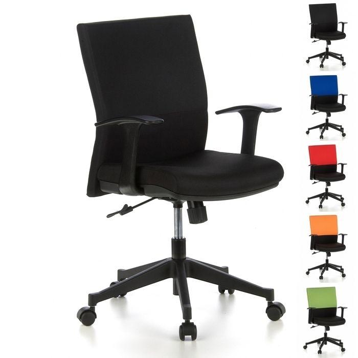 Bürostuhl ISTANBUL Schwarz aus Stoff