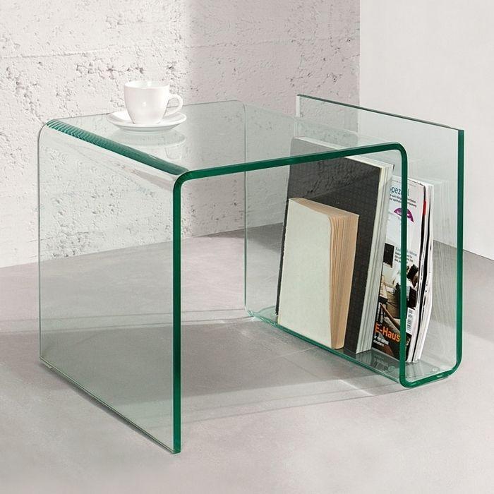 Beistelltisch MAYFAIR Glas transparent 50cm