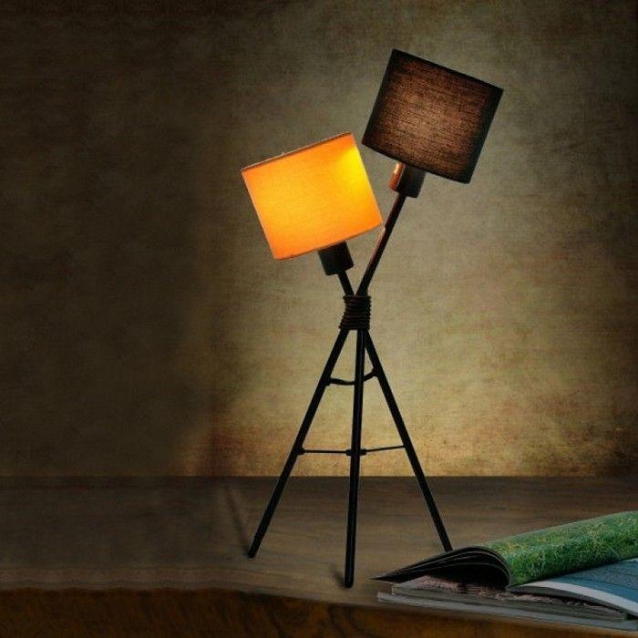 Tischlampe IRIS Schwarz-Bunt 55cm Höhe