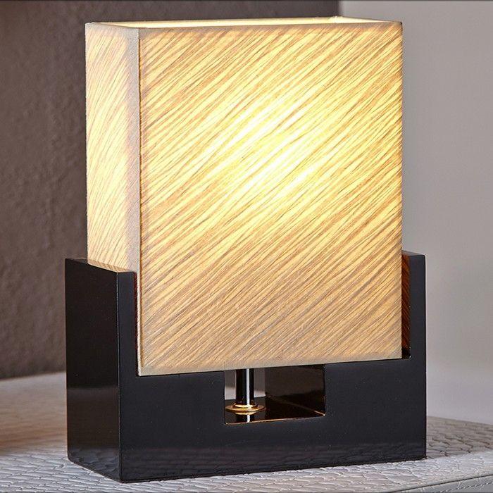 Tischlampe KOBE Beige aus handgeschöpftem Papier 25cm Höhe