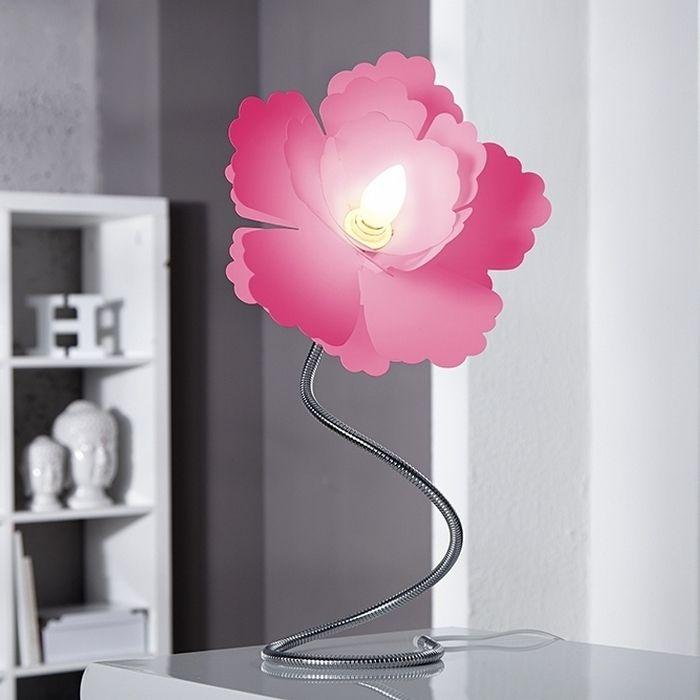 Tischlampe FLORA Pink 55cm Höhe verstellbar