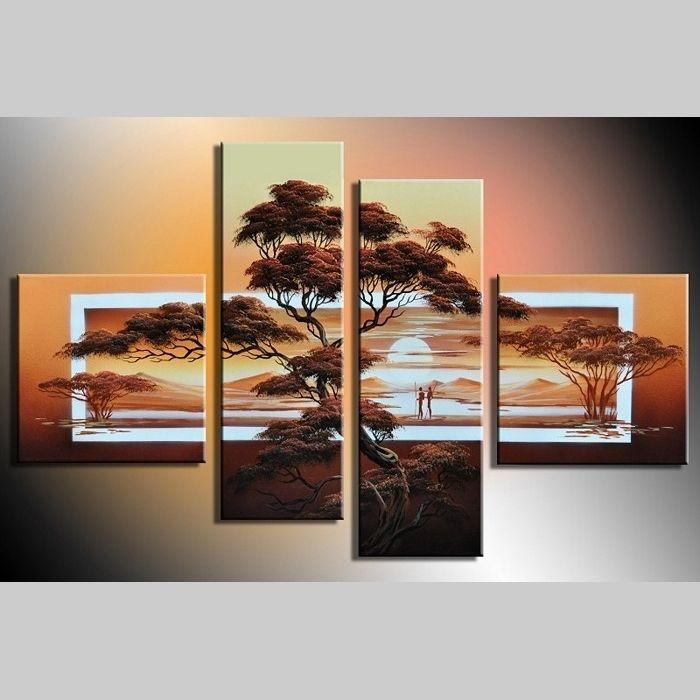 Leinwandbild AFRIKA Baum (3) 100 x 70cm Handgemalt