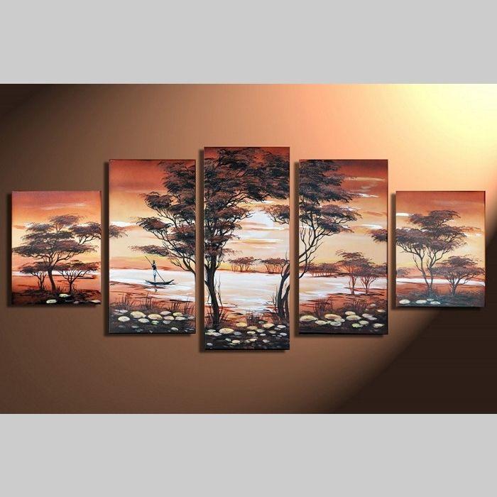 5 Leinwandbilder AFRIKA Life (1) 150 x 70cm Handgemalt