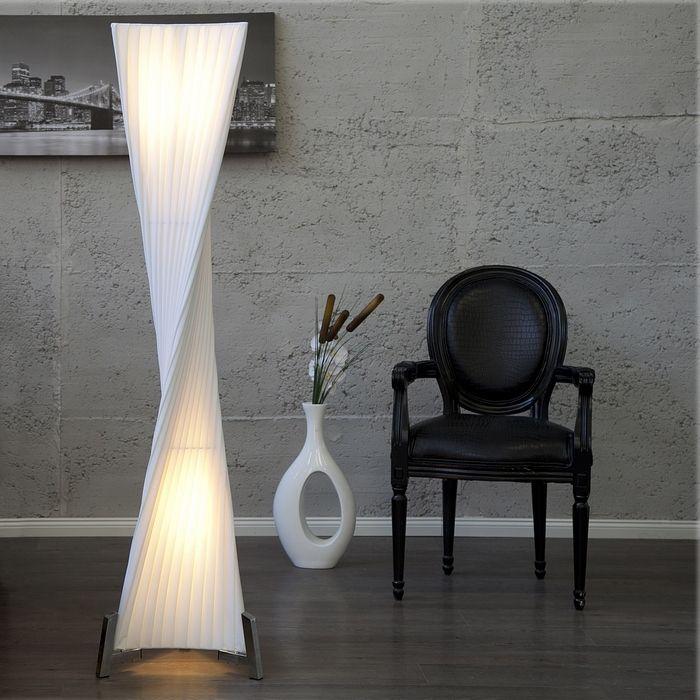 XL Stehlampe LOOP Weiß Kegelform Helix 160cm Höhe