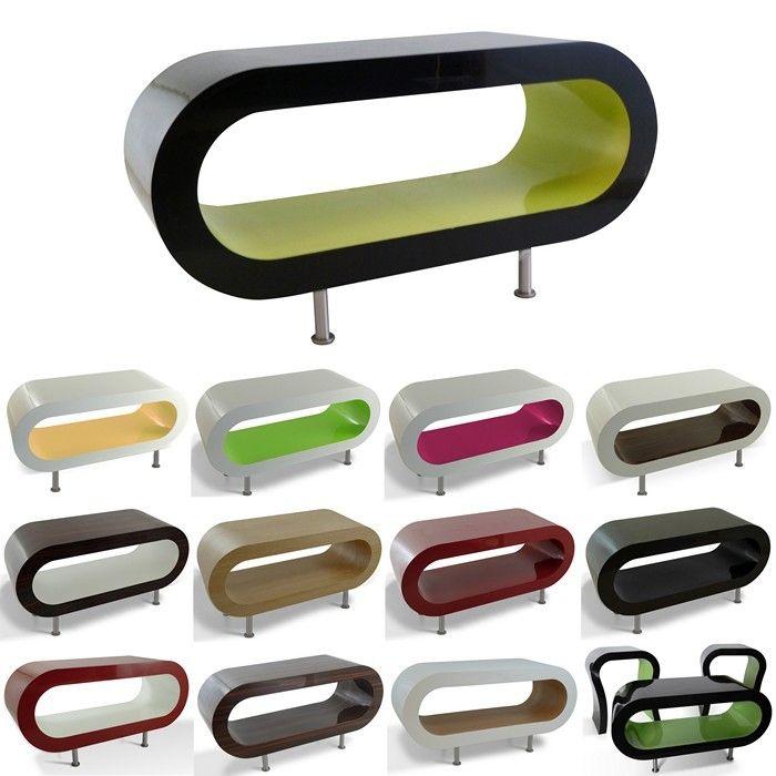 MADE in UK: Retro Lounge Couchtisch LEO 90cm mit Füßen in 24389 Farbkombinationen!