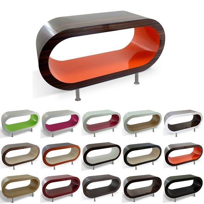 MADE in UK: Retro Lounge Couchtisch LEO 110cm XXL mit Füßen in 24389 Farbkombinationen!