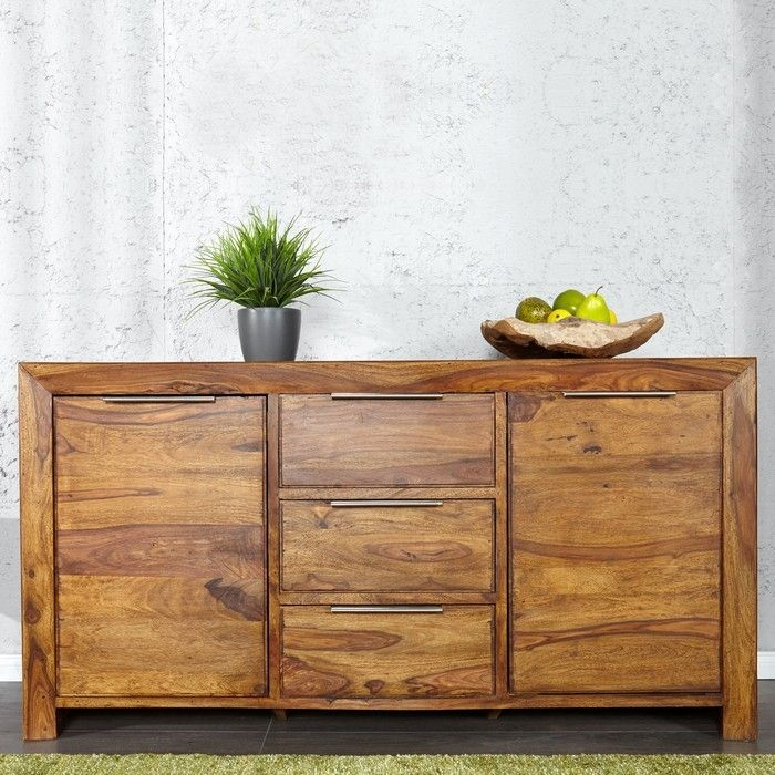 Sideboard SATNA Sheesham massiv Holz gewachst 140cm