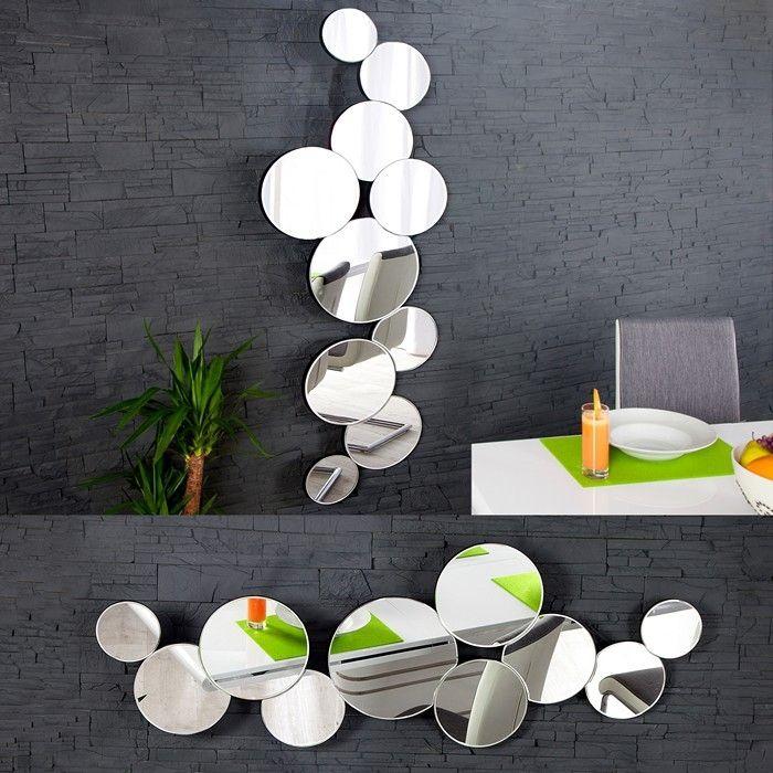XL Wandspiegel BUBBLES mit 10 runden Spiegelflächen 145cm x 50cm