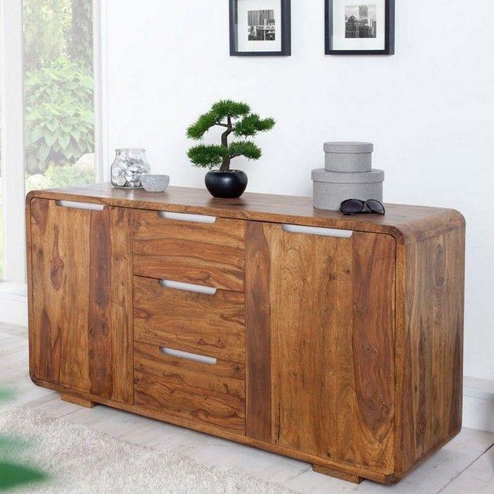 Sideboard DAIPUR Sheesham massiv Holz gewachst 145cm