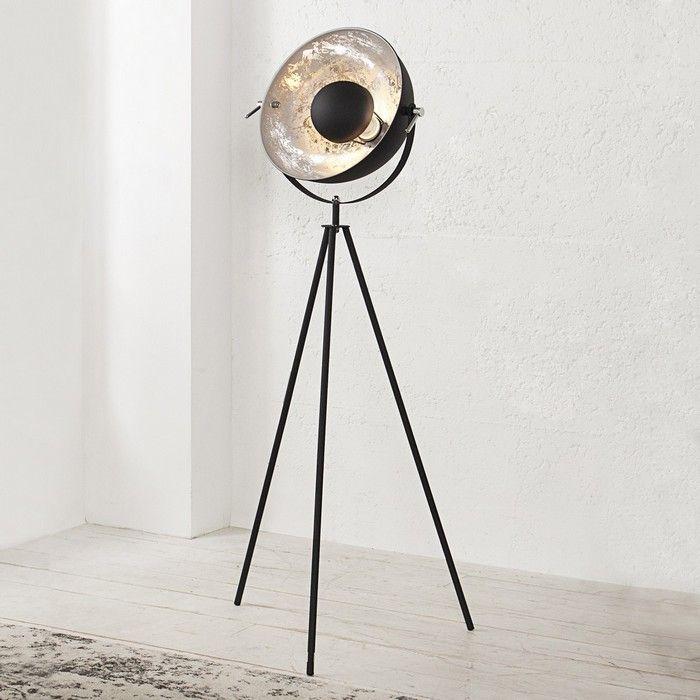 Stehlampe SPOT Schwarz-Silber 140cm Höhe