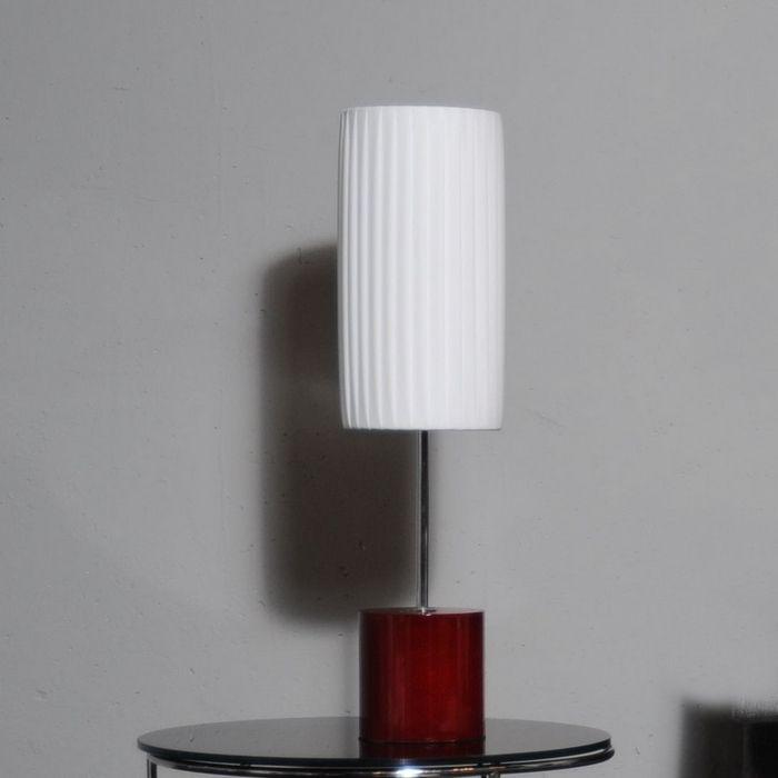 Tischlampe LOOP Weiß 60cm Höhe
