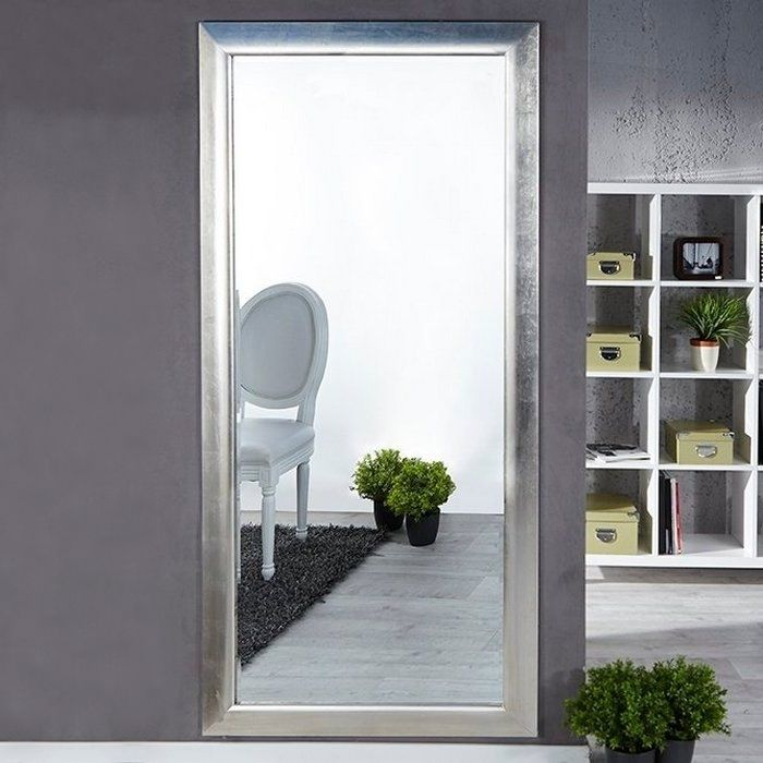 XXL Zeitlos Romantischer Wandspiegel LILLE Silber in Klassik-Design 180cm x 85cm