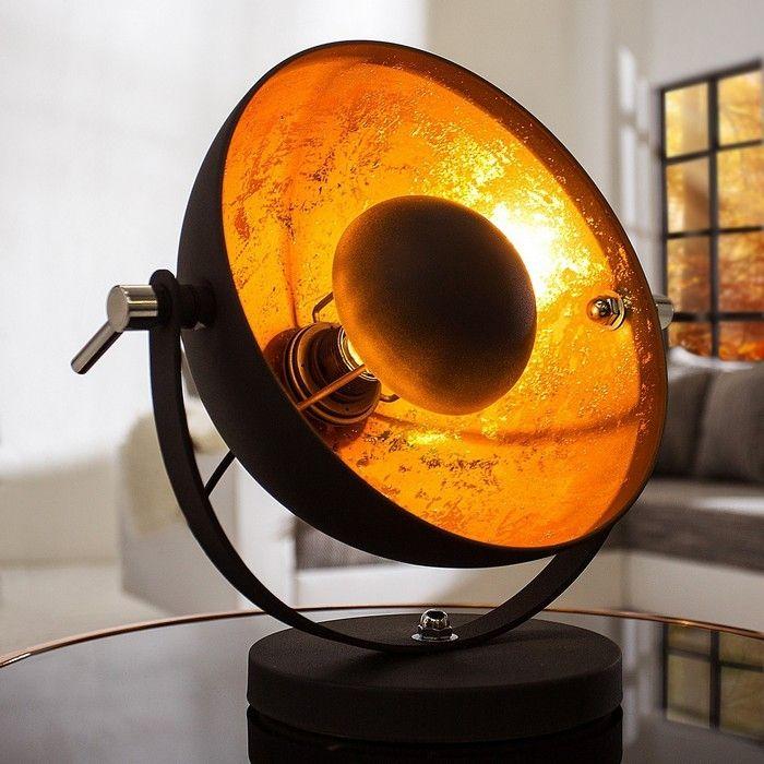 Tischlampe SPOT Schwarz-Gold 40cm Höhe