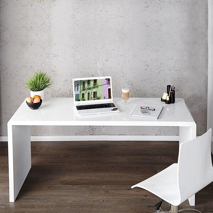 Schreibtisch SOHO Weiß Hochglanz 120cm