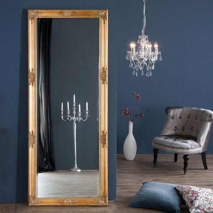 XXL Romantischer Wandspiegel VERONIQUE Gold Antik in Renaissance-Design 185cm x 75cm