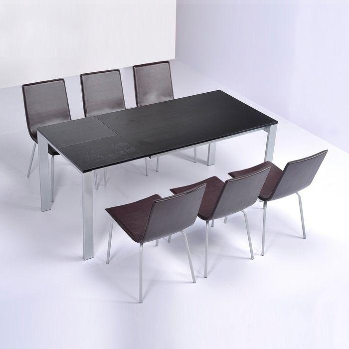 Stuhl VIENA Braun aus Kunstleder
