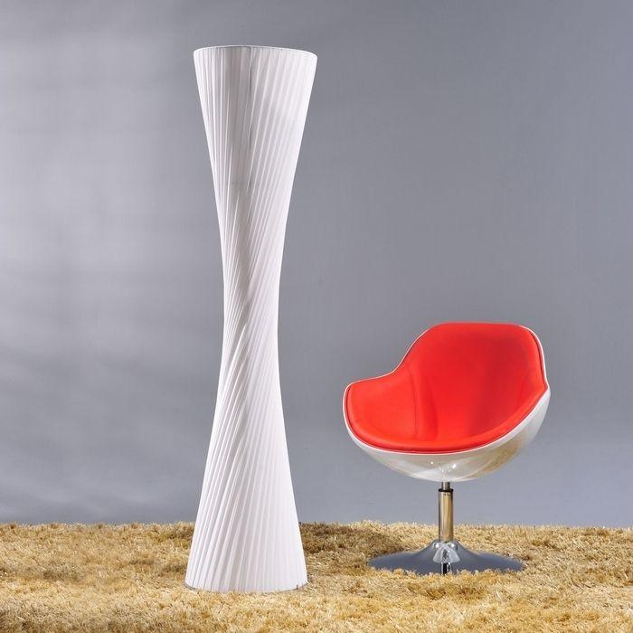 XL Stehlampe LOOP Weiß Kegelform Rund 160cm Höhe