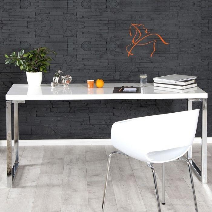 Schreibtisch OXFORD Weiß Hochglanz 160cm