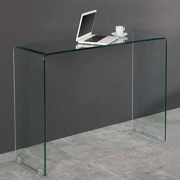 Schreibtisch MAYFAIR Glas transparent 100cm