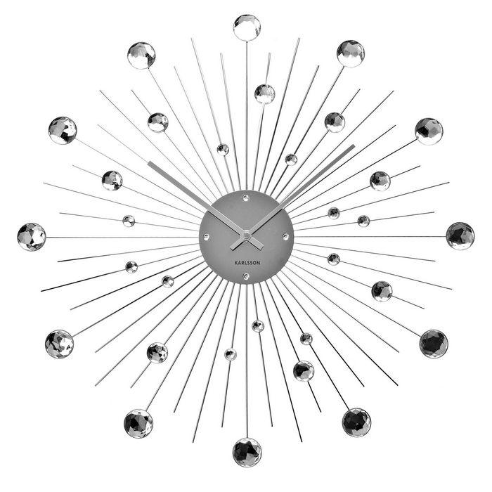 Wanduhr BALL mit Kristallkugeln 50cm