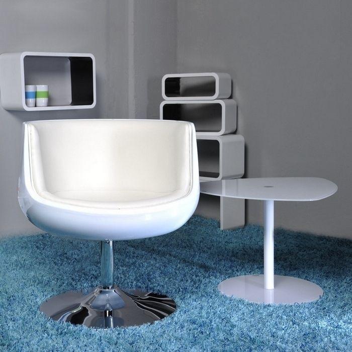 Sessel OSLO Weiß drehbar