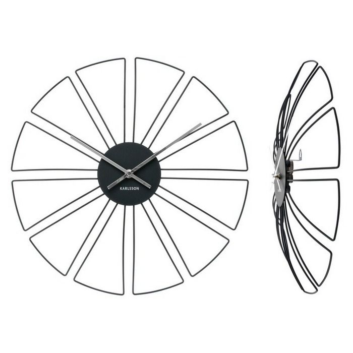 Wanduhr WEB Schwarz 60cm