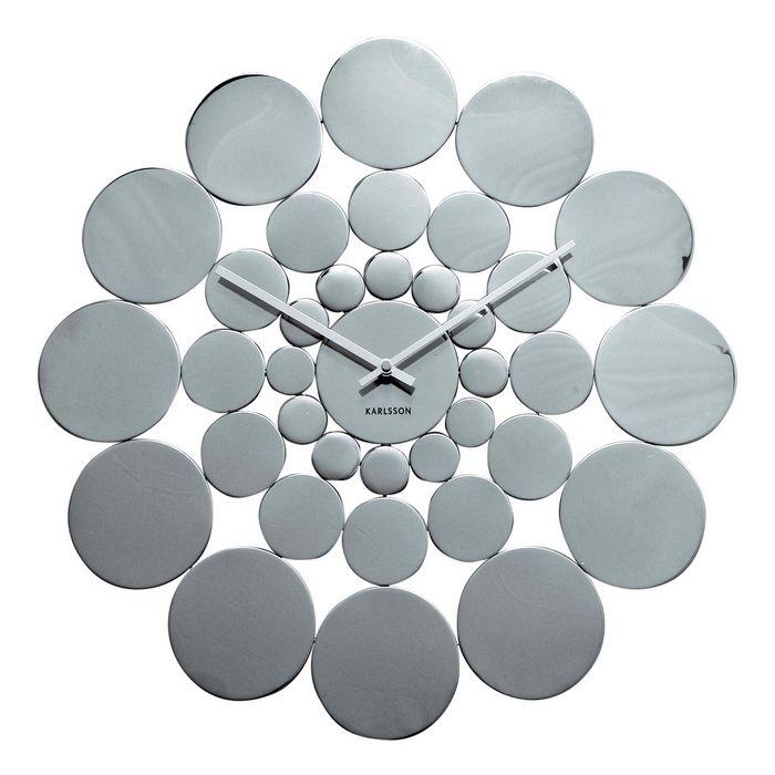 Wanduhr DISC aus poliertem Stahl 48cm