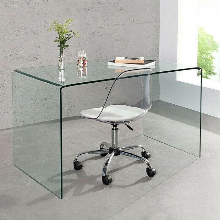 Schreibtisch MAYFAIR Glas transparent 120cm