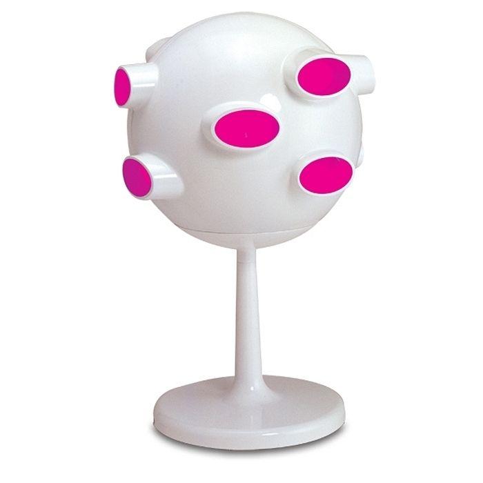Tischlampe CAVE Weiß-Pink 42,5cm Höhe